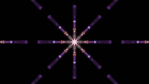disco neon light display,gem,flower... Stock Video Footage