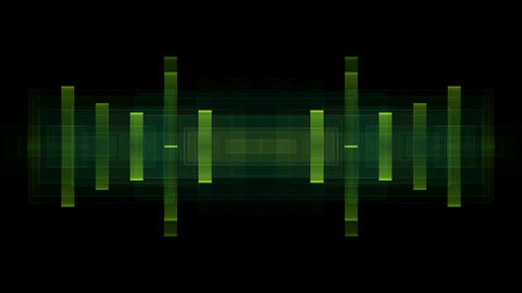 Music rhythm,green square ray... Stock Video Footage