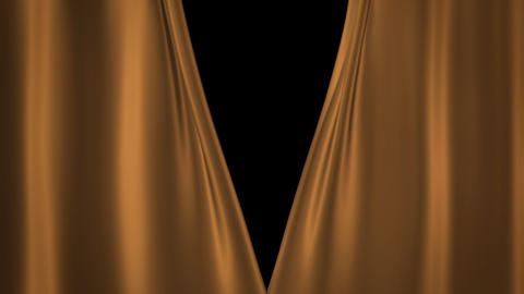 Champagne Gold curtains Stock Video Footage