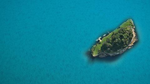 island sea blue ocean Stock Video Footage