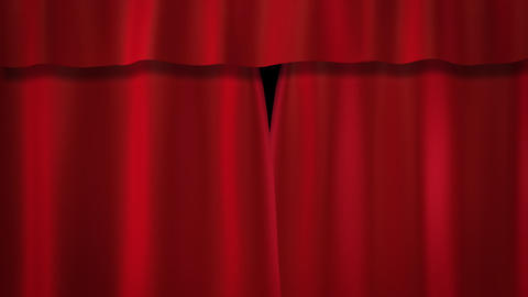 red curtains stage Animation