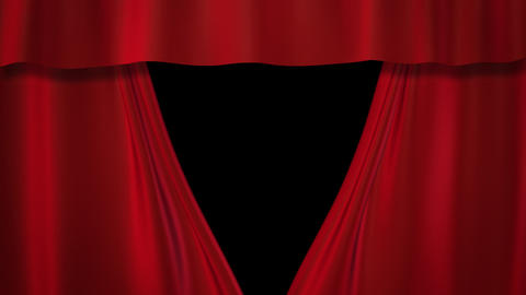 red curtains stage Stock Video Footage