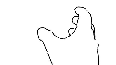 hand model outline Animation