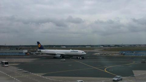 Frankfurt Airport Germany 01 Stock Video Footage