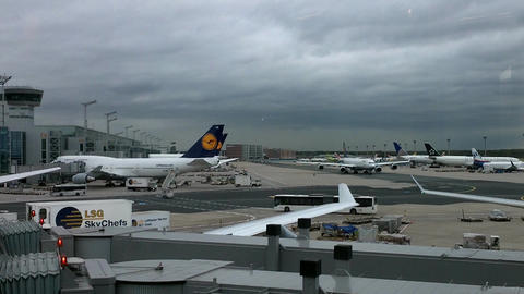 Frankfurt Airport Germany 05 Stock Video Footage
