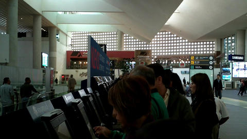 Mexico City Benito Juarez Airport Terminal 2 02 Stock Video Footage