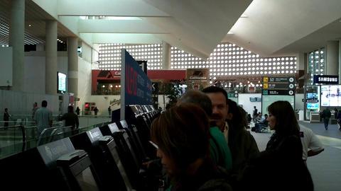 Mexico City Benito Juarez Airport Terminal 2 02 Stock Video Footage