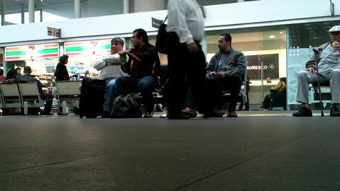 Mexico City Benito Juarez Airport Terminal 2 04 Stock Video Footage