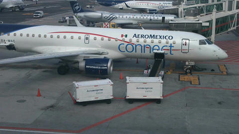 Mexico City Benito Juarez Airport Terminal 2 06 Stock Video Footage