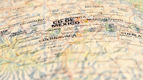 Mexico City with Central Mexico on Map DOLLY Stock Video Footage