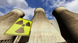 Nuclear Station Cooling Towers Timelapse v2 10 Stock Video Footage