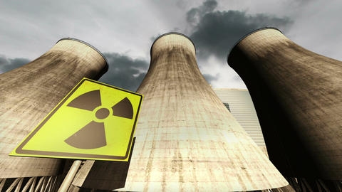 Nuclear Station Cooling Towers Timelapse v2 12 Stock Video Footage