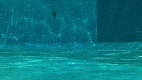 Outdoor Swimming Pool Underwater 04 Stock Video Footage