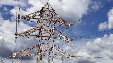 Rusty Electric Poles Timelapse 01 Stock Video Footage