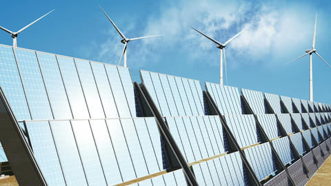 Solar Panels and Wind Turbines 04 Animation
