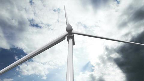 Wind Turbine Timelapse 02 Stock Video Footage
