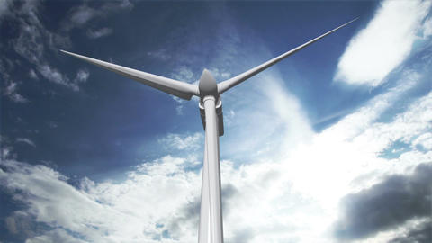 Wind Turbine Timelapse 02 Animation