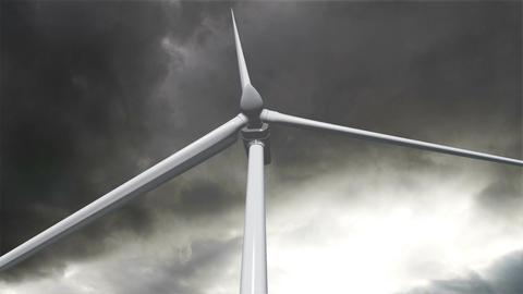 Wind Turbine Timelapse 04 Stock Video Footage