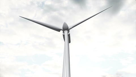Wind Turbine Timelapse 04 Animation