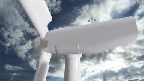 Wind Turbine Timelapse 06 Stock Video Footage