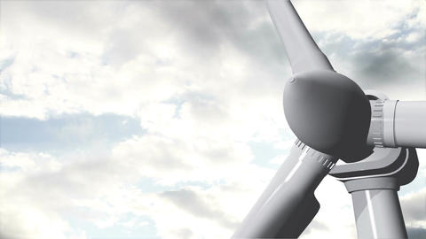 Wind Turbine Timelapse 12 Stock Video Footage