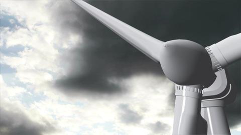 Wind Turbine Timelapse 12 Stock Video Footage