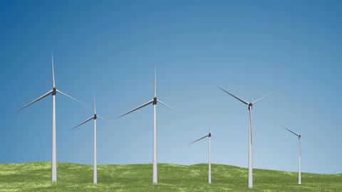 Wind Turbines 02 loop Stock Video Footage