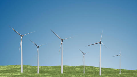 Wind Turbines 02 loop Animation