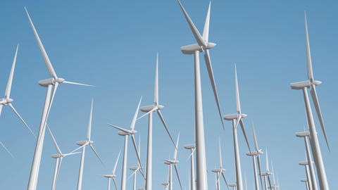 Wind Turbines 04 loop Animation