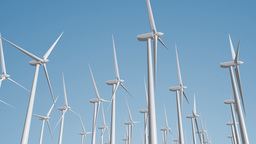 Wind Turbines 04 loop Stock Video Footage