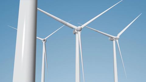 Wind Turbines 06 loop Stock Video Footage
