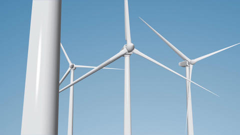 Wind Turbines 06 loop Animation