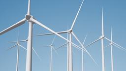 Wind Turbines 08 loop Stock Video Footage