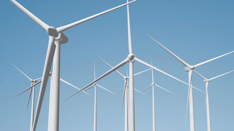Wind Turbines 08 loop Animation