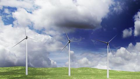 Wind Turbines Timelapse 05 Stock Video Footage