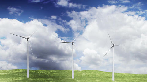 Wind Turbines Timelapse 05 Animation