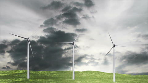 Wind Turbines Timelapse 07 Stock Video Footage