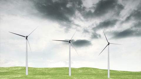 Wind Turbines Timelapse 07 Animation