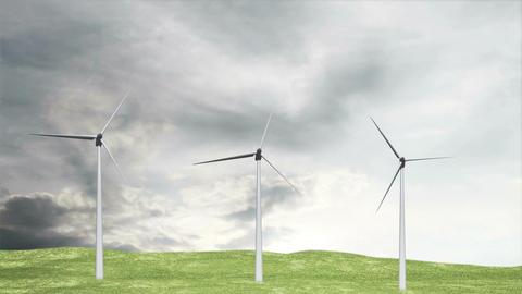 Wind Turbines Timelapse 07 Stock Video Footage
