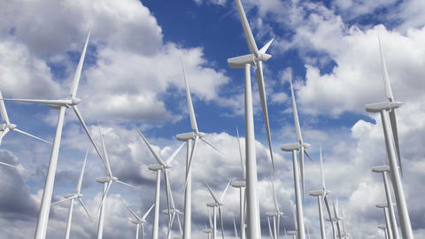 Wind Turbines Timelapse 09 Stock Video Footage