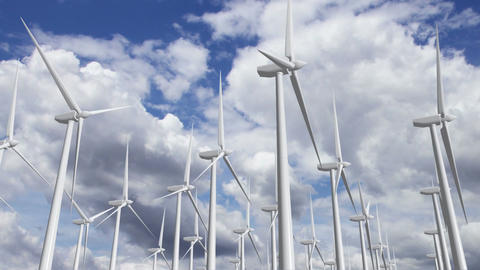 Wind Turbines Timelapse 09 Animation