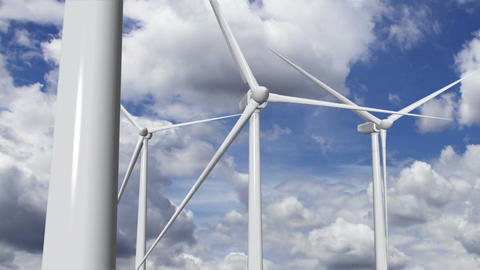 Wind Turbines Timelapse 13 Stock Video Footage