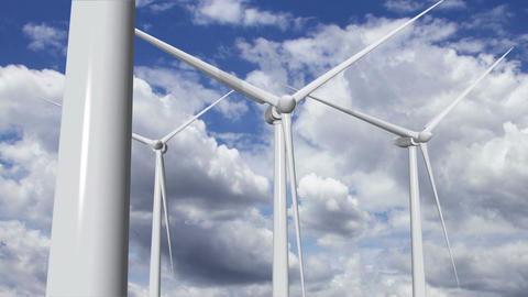 Wind Turbines Timelapse 13 Animation