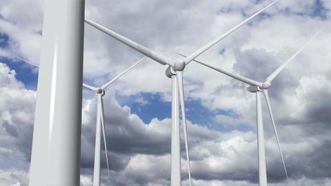 Wind Turbines Timelapse 13 Stock Video Footage