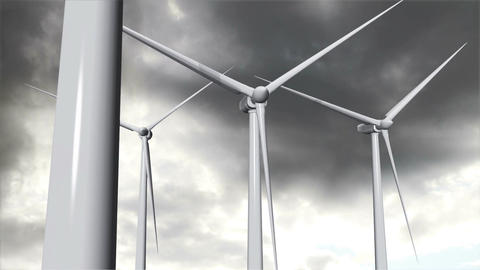 Wind Turbines Timelapse 16 Stock Video Footage
