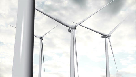 Wind Turbines Timelapse 16 Animation