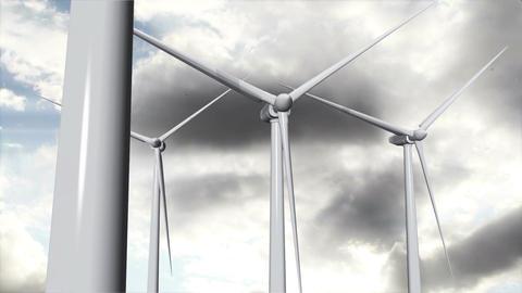 Wind Turbines Timelapse 16 Stock Video Footage