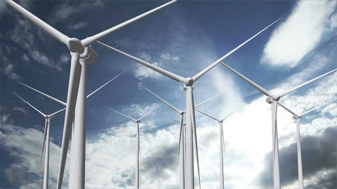 Wind Turbines Timelapse 18 Animation