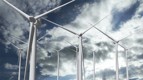 Wind Turbines Timelapse 18 Stock Video Footage