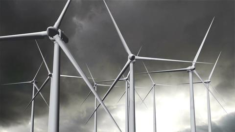 Wind Turbines Timelapse 20 Stock Video Footage